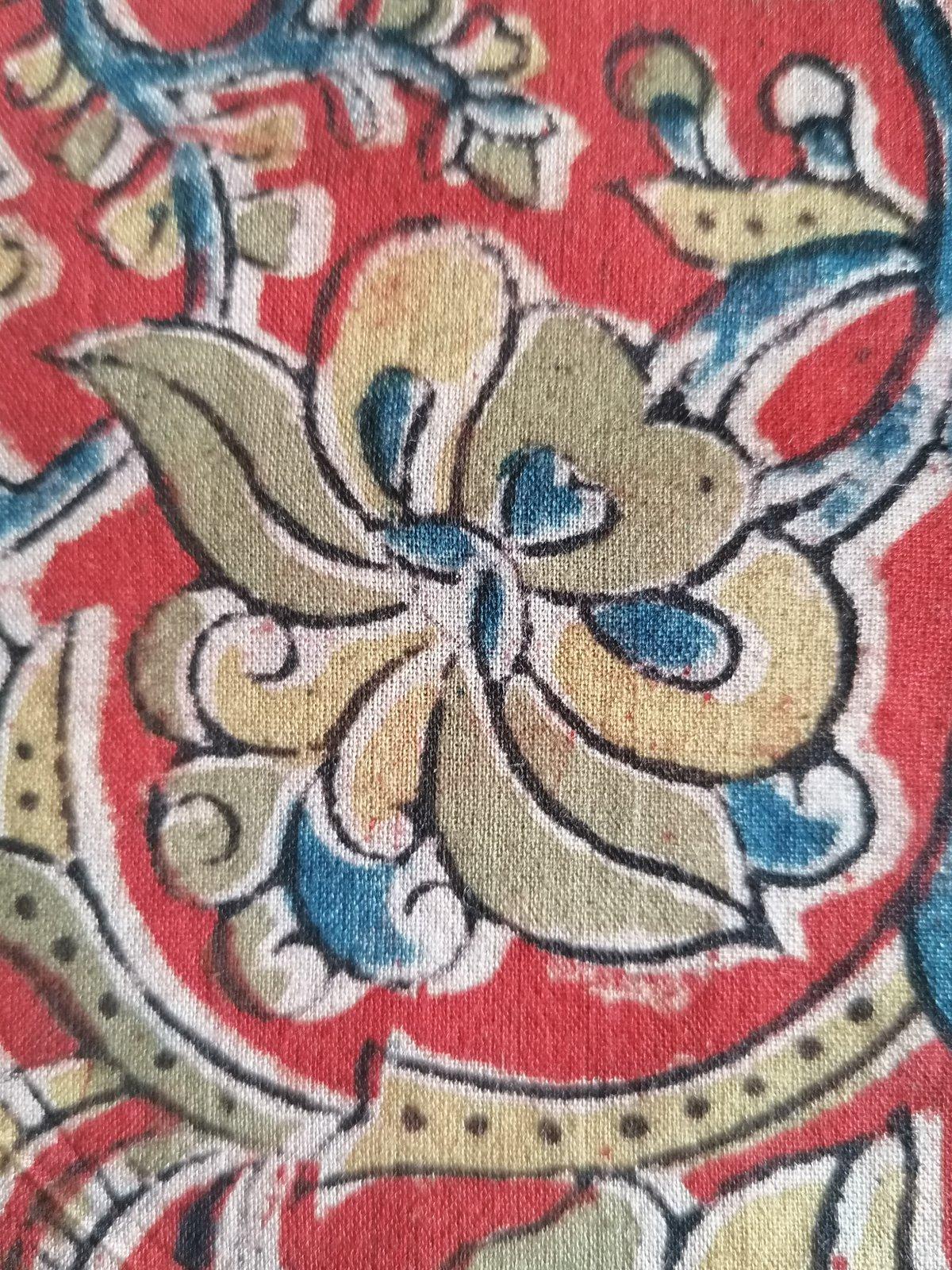 Image of Namasté fabric kalamkari rouge