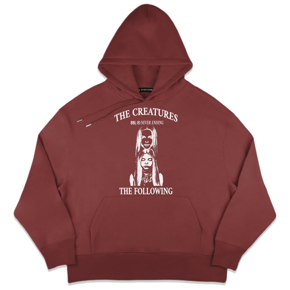 Image of The Creatures Hoodie (Sunset Red)