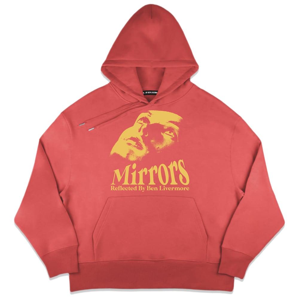 Image of Mirrors Hoodie (Pastel Red)