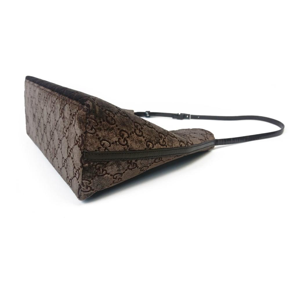 Image of Gucci by Tom Ford 1997 Velvet Shoulder Bag