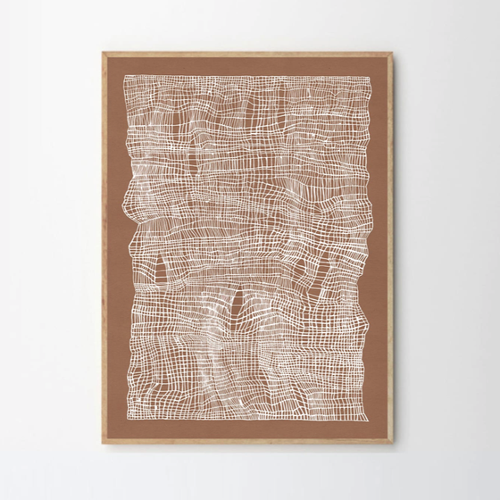 Image of Timeline framed art print by Ana Frois