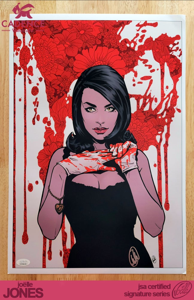 "Image of ""Blood Drip"" Lady Killer Art Print - Joëlle Jones Signature Series (JSA Certified)"