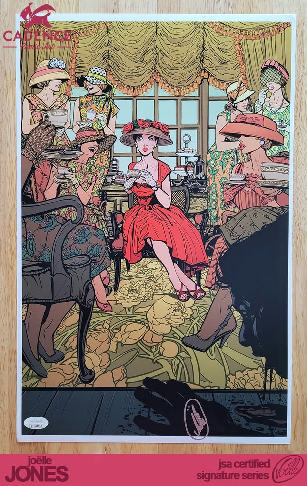 "Image of ""Tea Party"" Lady Killer Art Print - Joëlle Jones Signature Series (JSA Certified)"