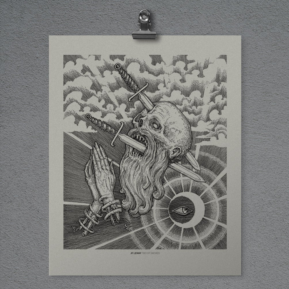 Image of Two of Swords - Print