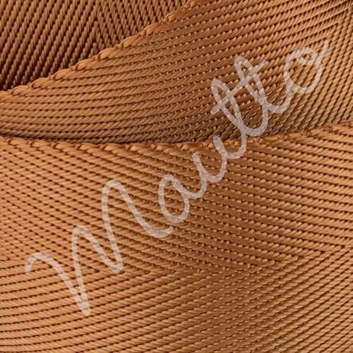"""Image of Bronze Tan Adjustable Strap for Bags - Luxurious Satin Nylon, 1.5"""" Wide - U Shape #16XLG Hooks"""