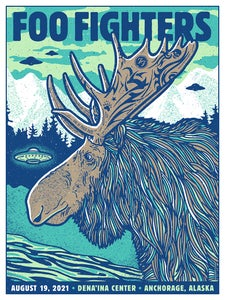 Image of Foo Fighters MOOSE 2021 Anchorage AK - Main Show Poster 2