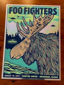 Image of Foo Fighters MOOSE 2021 Anchorage AK - Sparkle Foil Variant 2