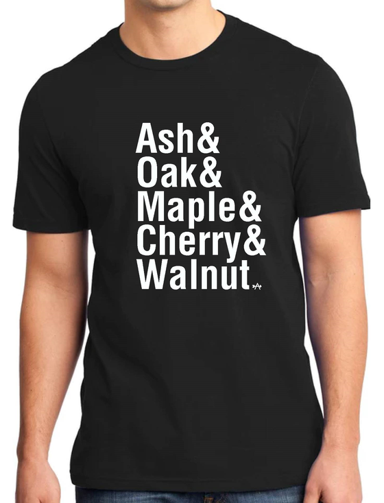 Image of Wood Names Ampersand T-Shirts