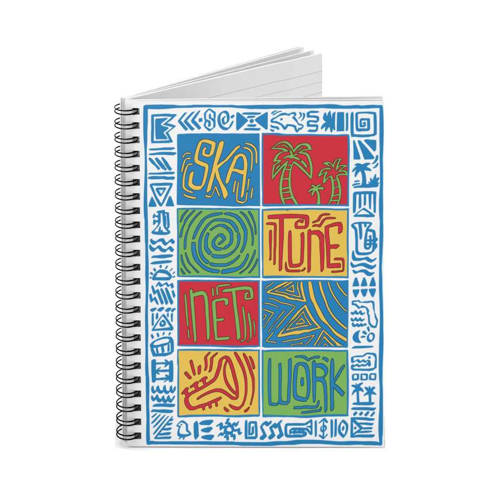 Image of BACK 2 SCHOOL | Island Vibes Spiral Lined Notebook - 6x8 inches