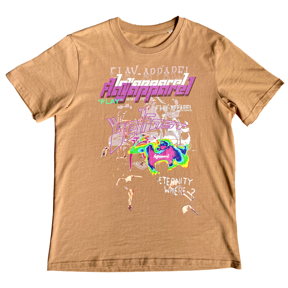 Image of CHAOS T-Shirt in a Caramel Tea Brown