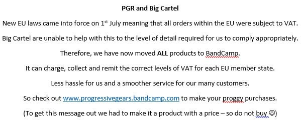 Image of PGR and Big Cartel