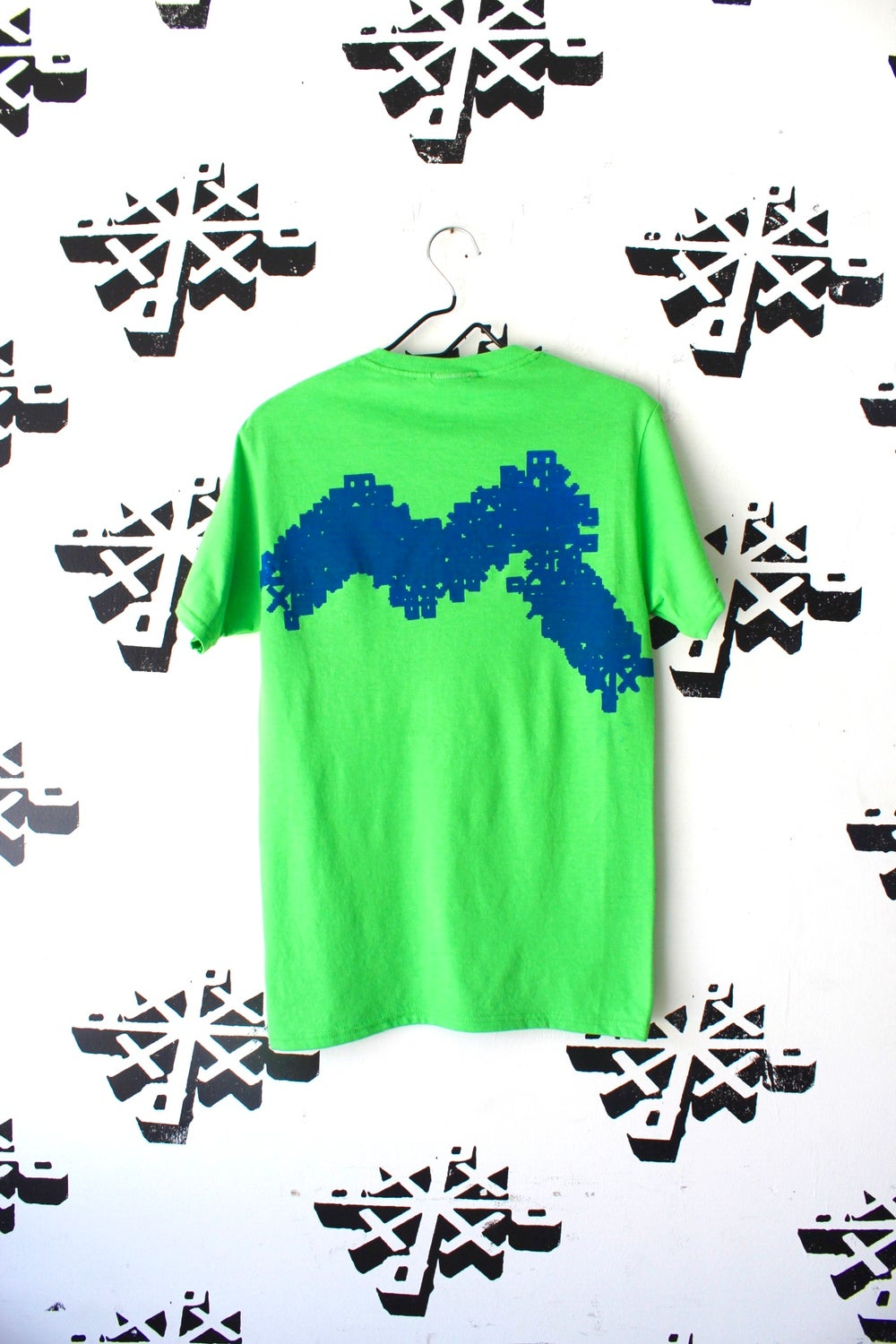 glitch in the system tee in green