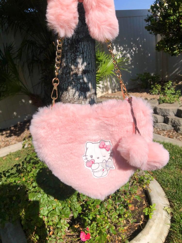 Image of Hello Kitty Fuzzy Heart Purse