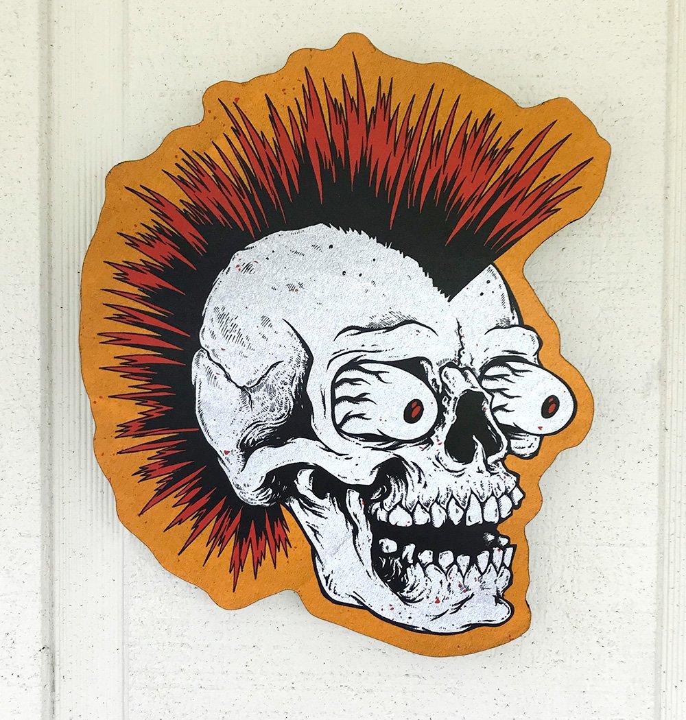Punk Skull Woodcut