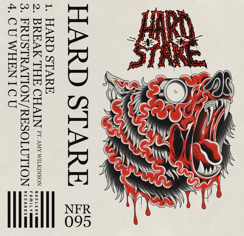 """Image of NFR095 - Hard Stare """"S/T"""" Cassette"""