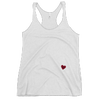 OK Heart Racerback Tank Heather Wht