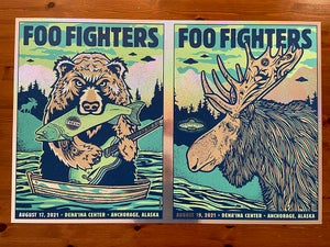 Image of Foo Fighters UNCUT FULL SPARKLE FOIL Anchorage AK