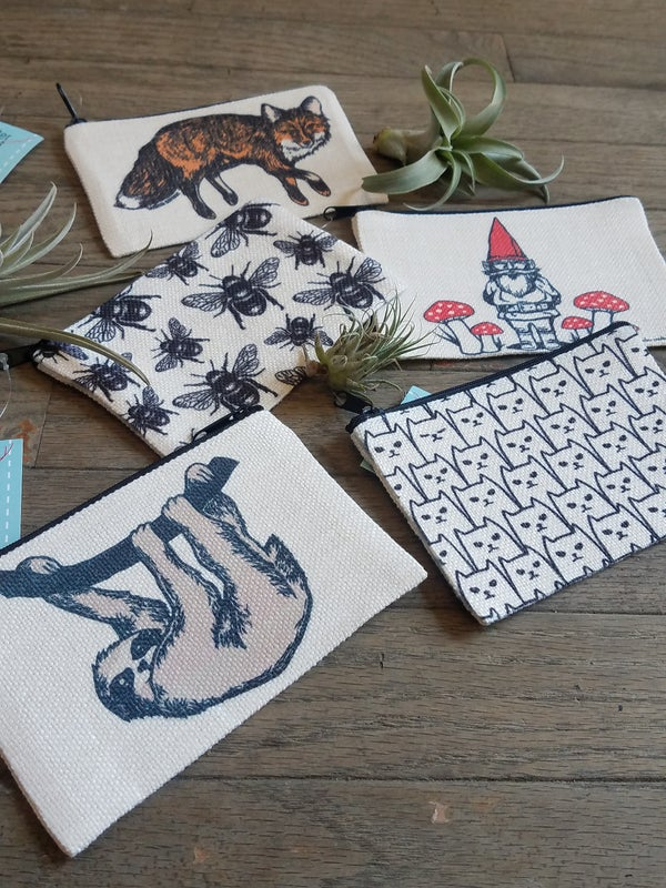 Image of Woven Printed Zipper Pouches
