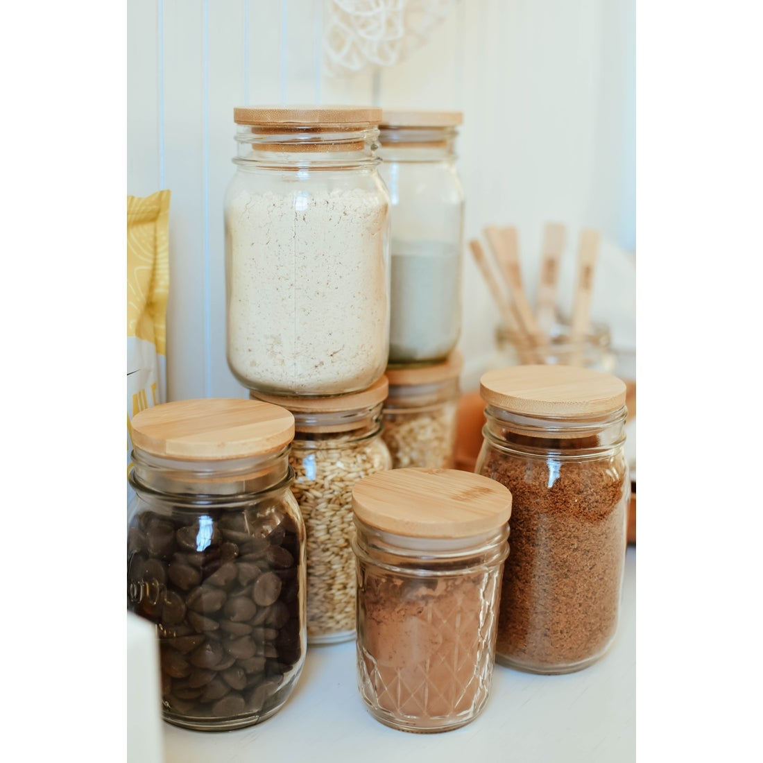 Image of Wood Mason Jar Lids