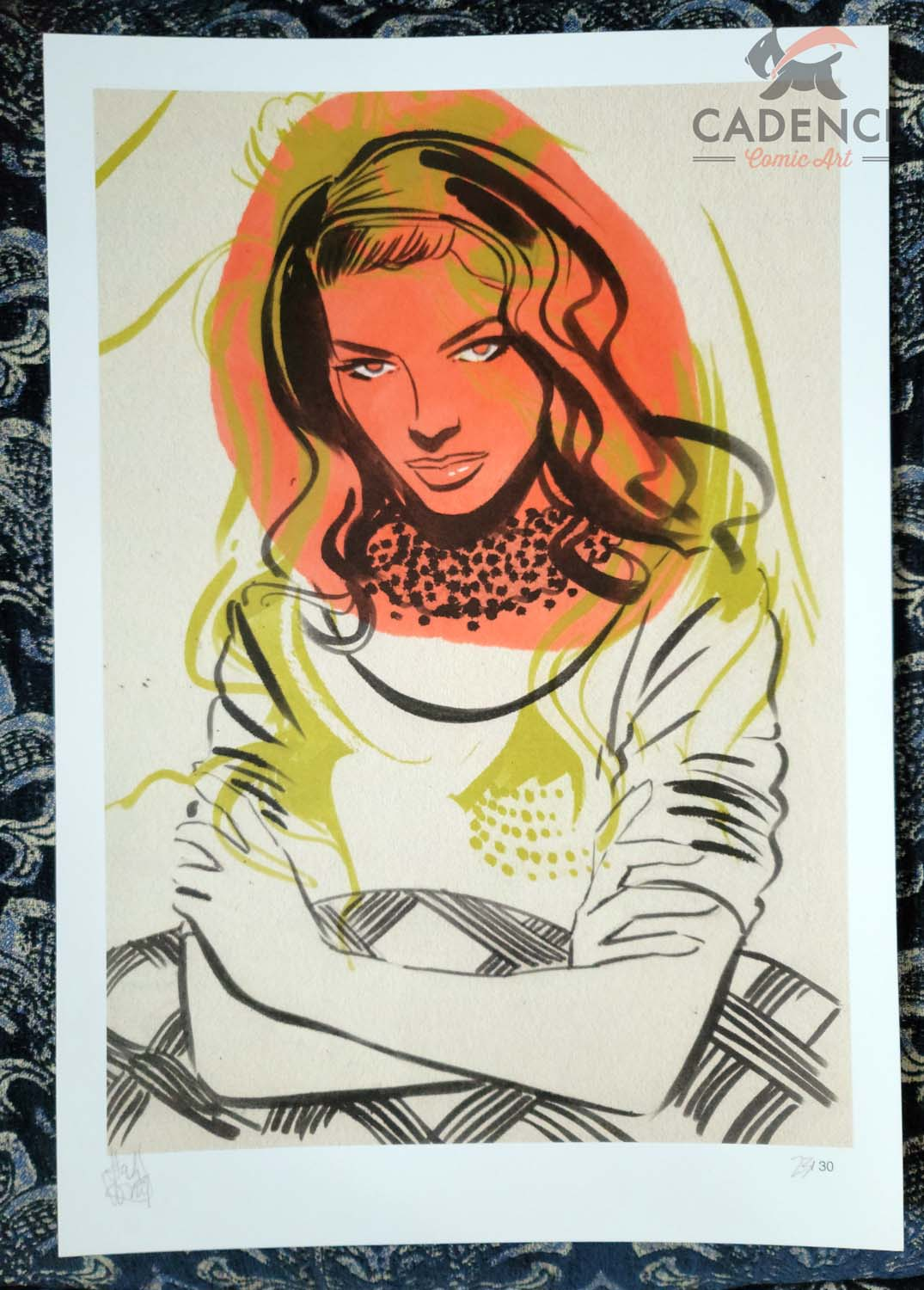 Image of Bacall - Limited Edition Print by Tula Lotay