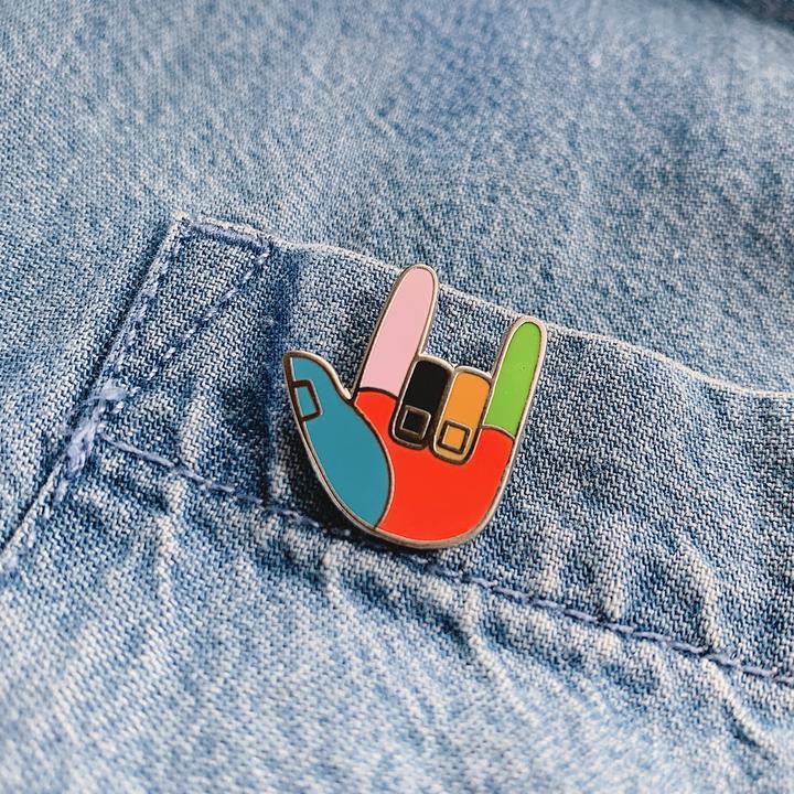 Image of Superlove ILY Enamel Pin