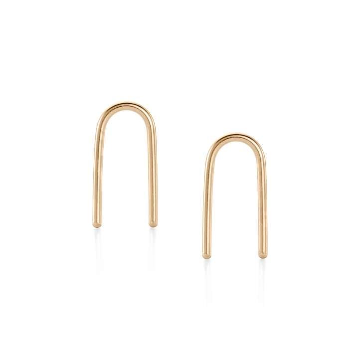 Image of Baleen U Earrings - Gold Fill