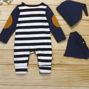 Image 2 of 3PCS Stripped Long Sleeve Romper