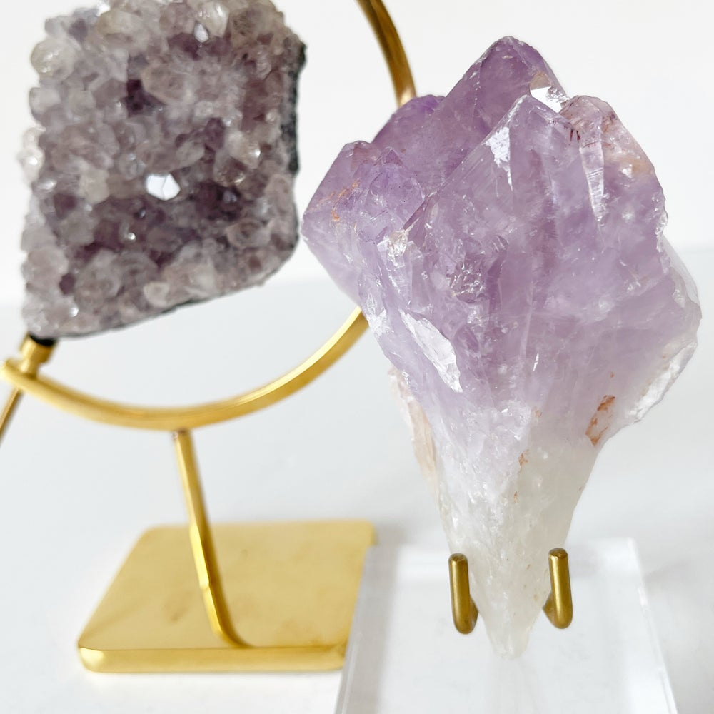 Image of Amethyst no.26 + Lucite and Brass Stand