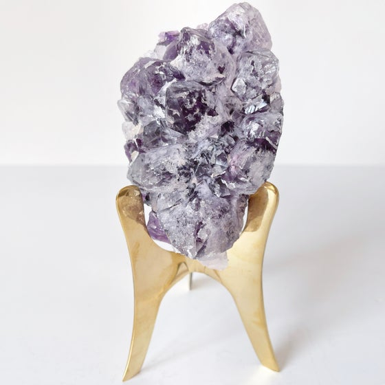 Image of Amethyst no.06 + Brass Stand