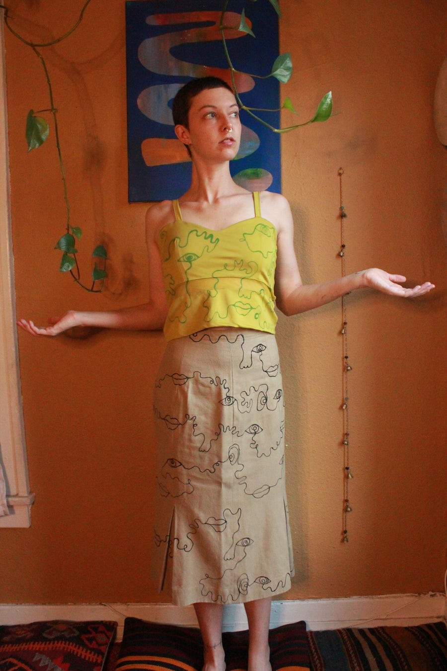 Image of Pencil Doodle Skirt