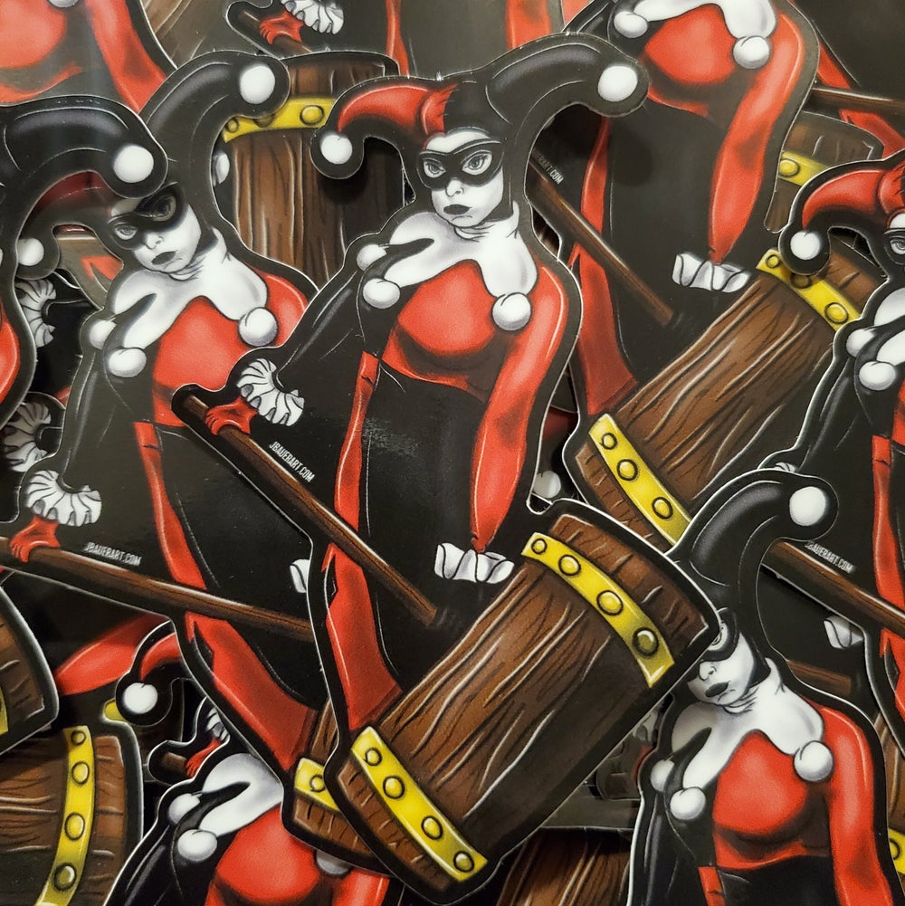 """""""Pouting Harley"""" Sticker"""