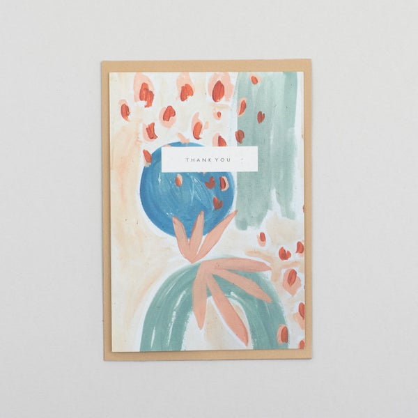 Image of Thank You Abstract Floral
