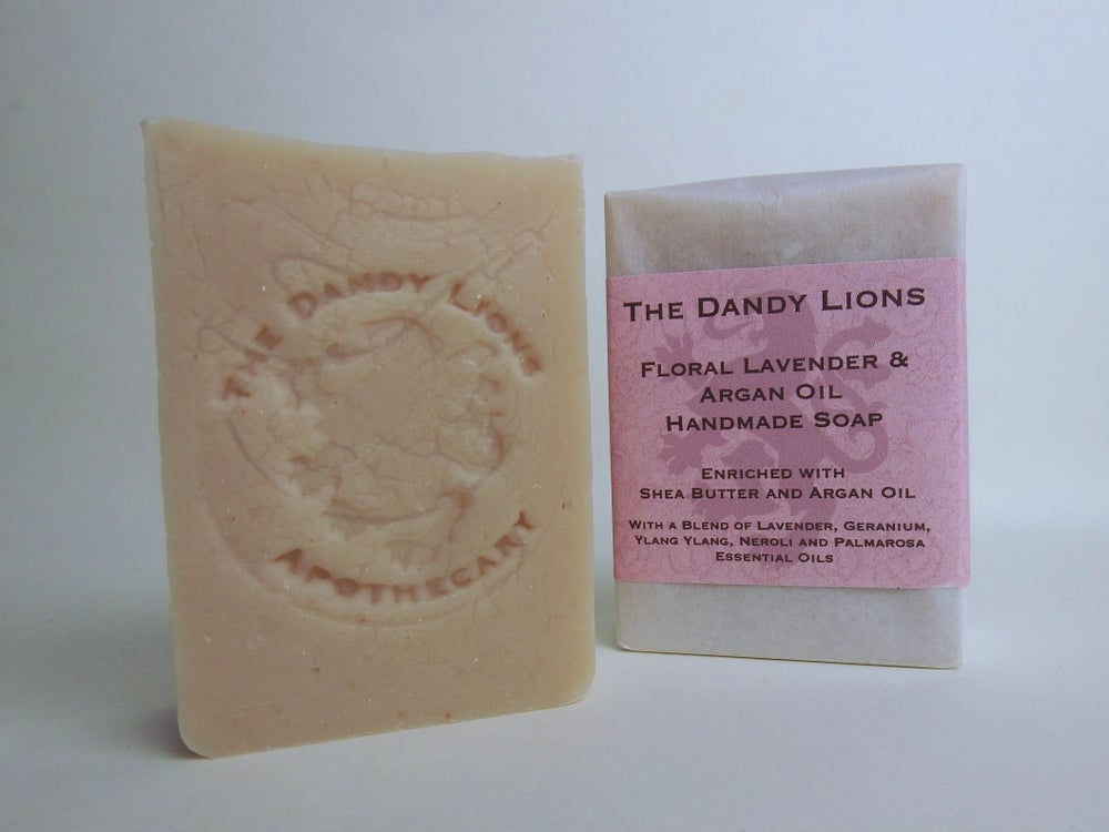 Image of NEW - Floral Lavender Soap fortified with Argan Oil