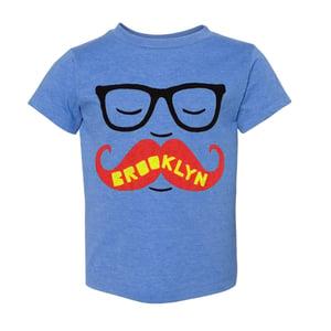 Image of KIDS - BK Mustache Blue