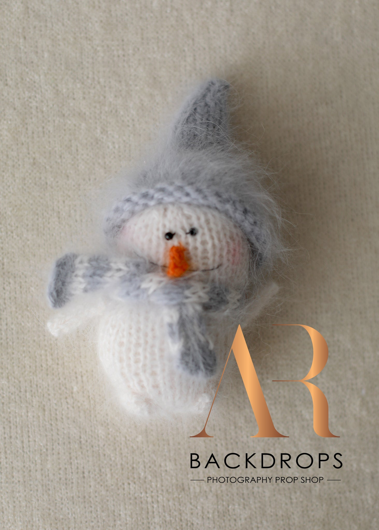 Image of OOAK mini mohair snowman