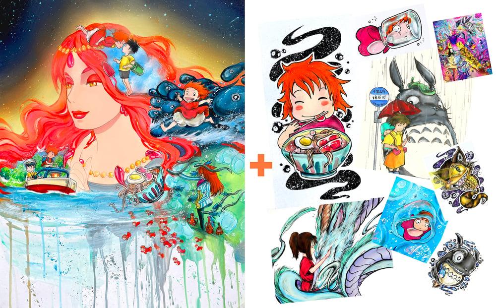 "Image of ""Ponyo"" Holographic Print Pack"