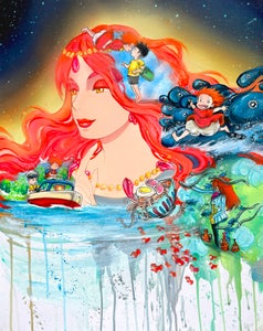 """Image of <font color=""""red"""">Clearance </font>""""Ponyo"""" Original Painting"""