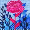 Solo Knockout Rose with Blue Garden