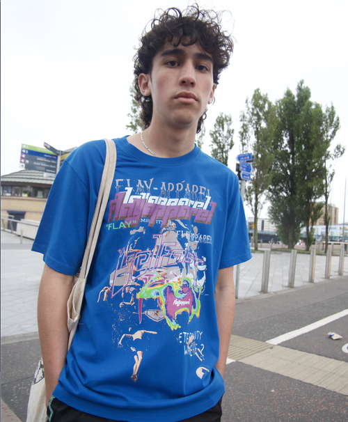 Image of CHAOS T-Shirt in Blue