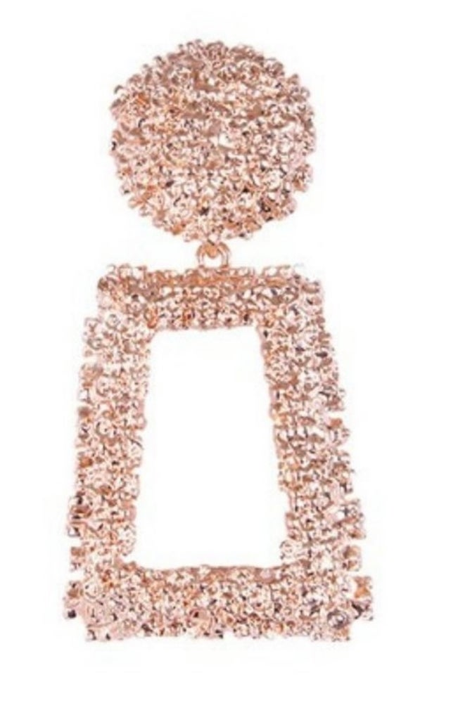 Image of Pink Rectangle Drop Earring