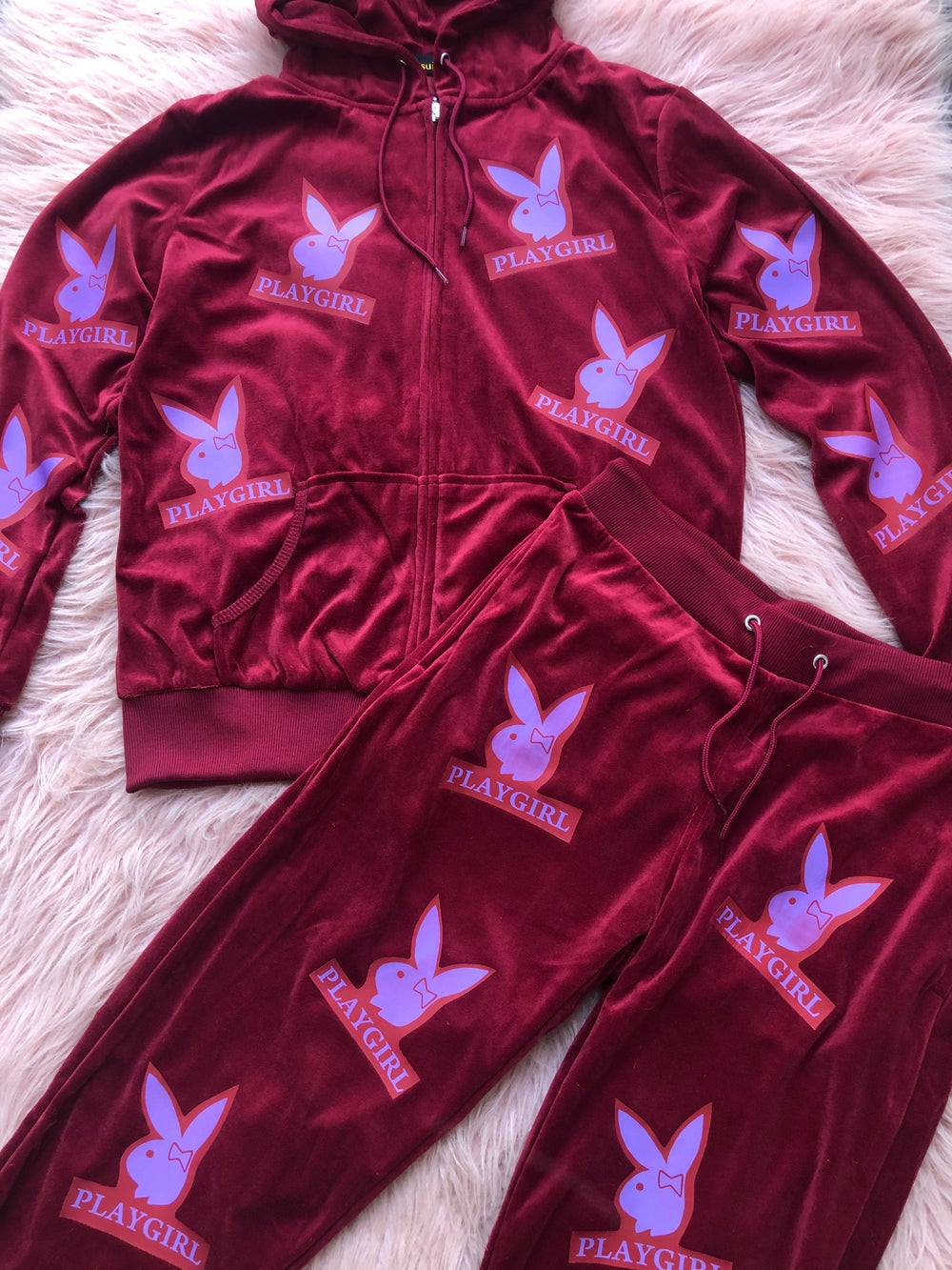 Image of Peachy Playgirl Velour Track Set