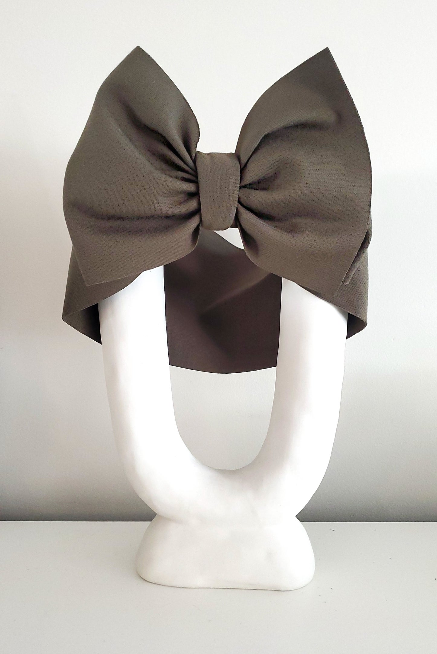 Image of Army green headwrap bow