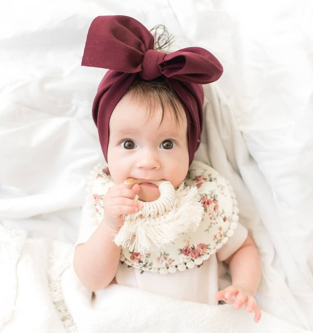 Image of Wine headwrap bow