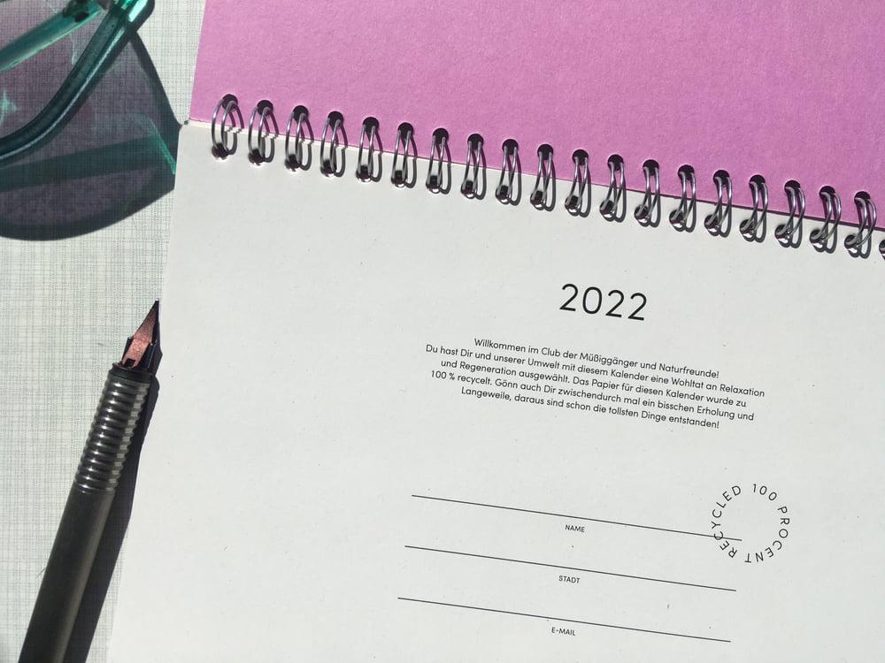 Image of Tischkalender 2022 Pink