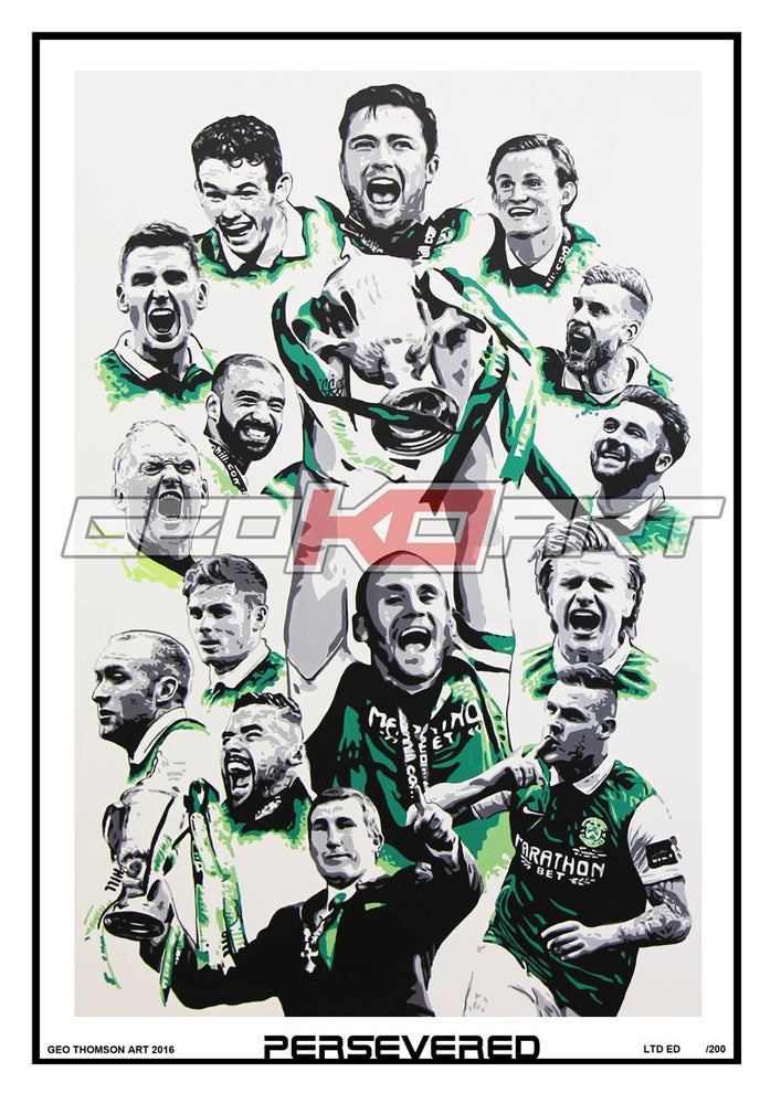 Image of PERSEVERED HIBS SCOTTISH CUP WINNERS 2016