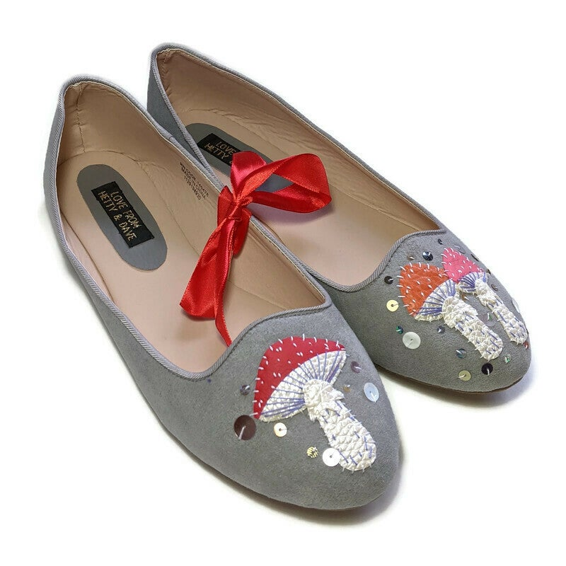Image of LIMITED Grey Toadstool Pumps