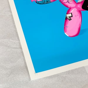 "Image of ""Art Rodeo"" Blue/Pink Artist Proof 1/1 Screen Print"