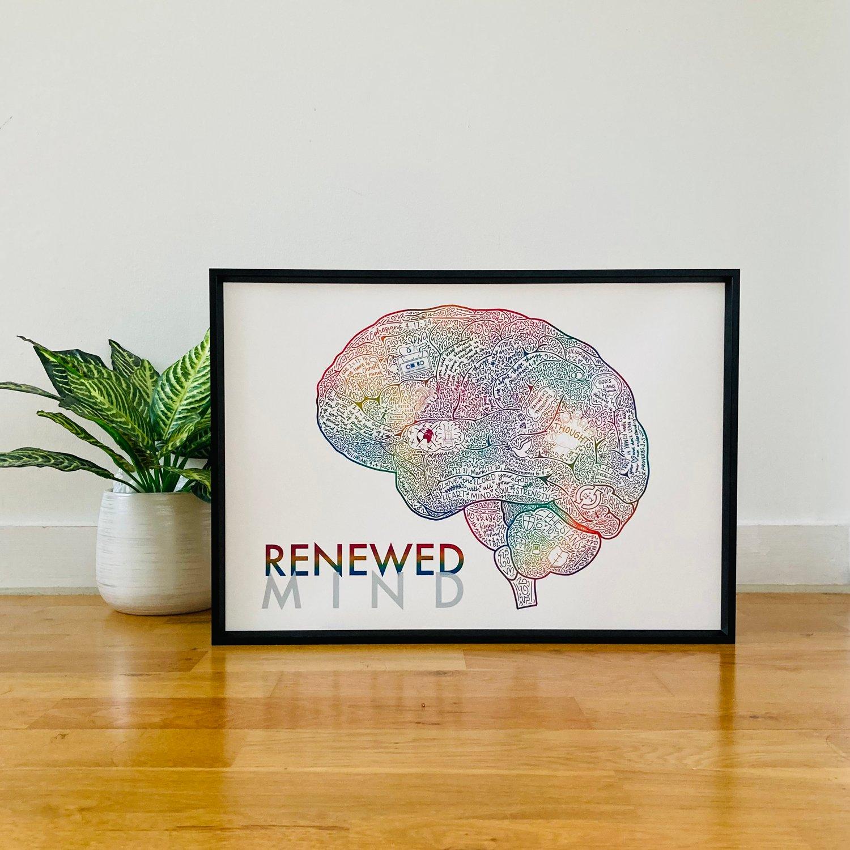 Image of Renewed Mind A3 Print - RAINBOW