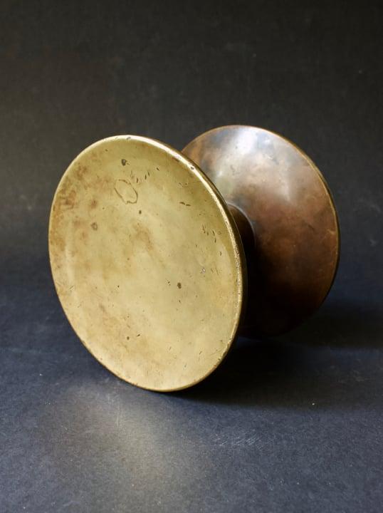 "Image of 6"" Circular Push-Pull Bronze Handles, French"