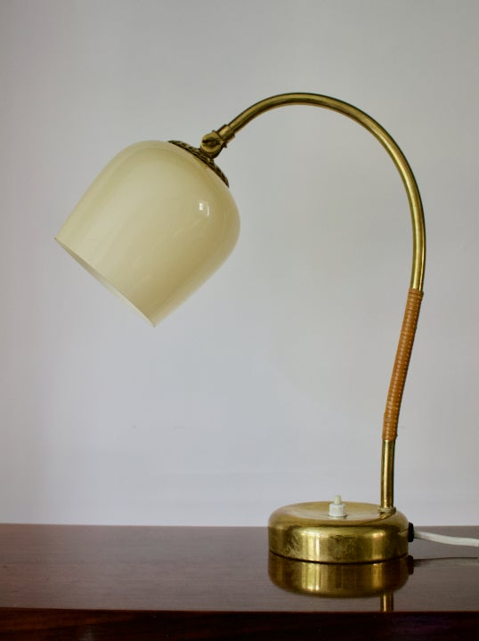 Image of Brass Table Lamp by Idman, Finland 1950s